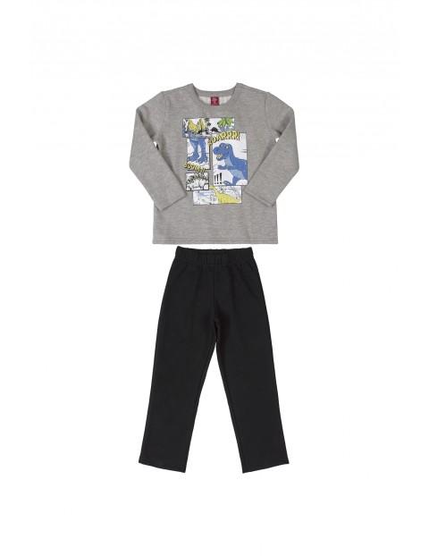 Komplet chłopięcy- bluza z nadrukiem i spodnie dresowe