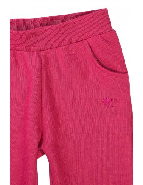 Spodnie dresowe dziewczęce różowe