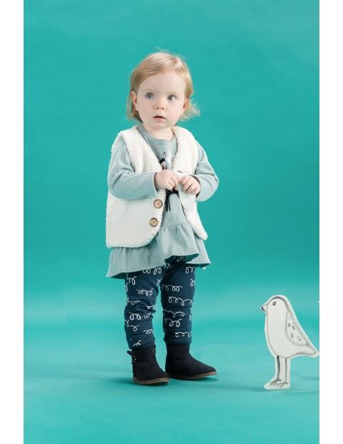 Spodnie dresowe dla niemowlaka- granatowe