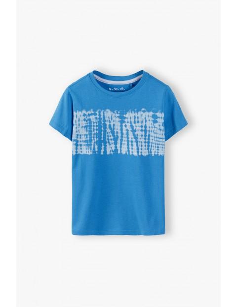 Niebieski t-shirt chłopięcy - 100% bawełna