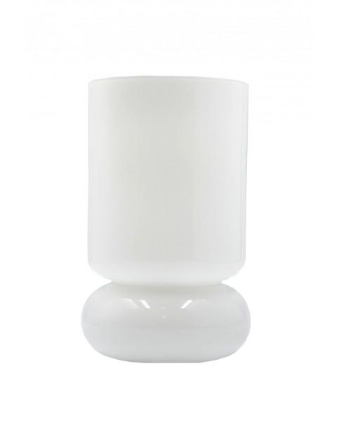 Szklana lampa stołowa LOUIS -biała
