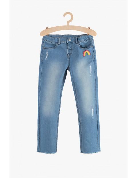 Jeansowe, niebieskie spodnie dla dziewczynki