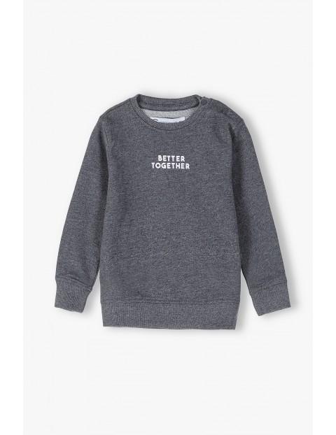 Bluza niemowlęca szara z napisem- Better Together - ubrania dla całej rodziny