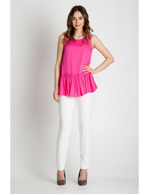 Bluzka damska baskinką różowa