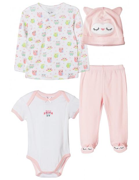 Komplet niemowlęcy różowy 4pak 5W3538