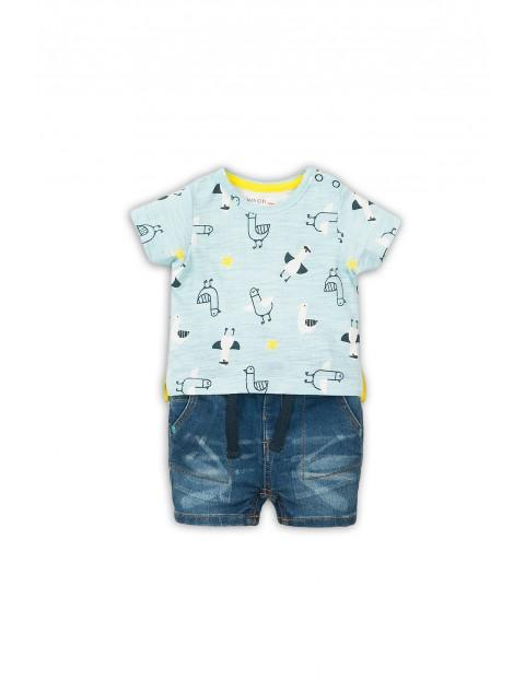 Komplet niemowlęcy - t-shirt i jeansowe spodenki
