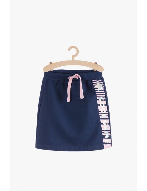 Sportowa spódnica dla dziewczynki- granatowa