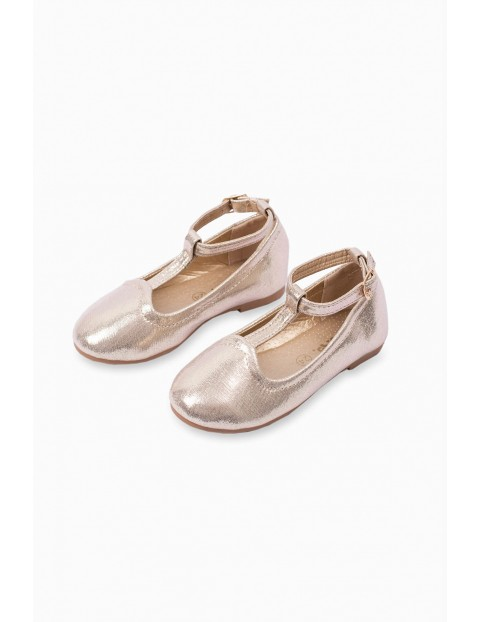 Buty balerinki dziecięce - złote