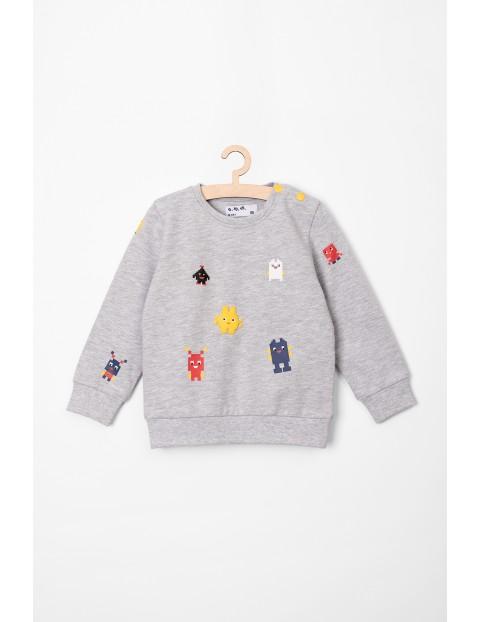 Dresowa bluza dla niemowlaka- szara