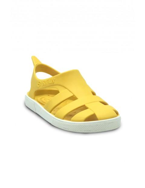 Żółte sandałki dziewczęce o zapachu startej skórki cytryny