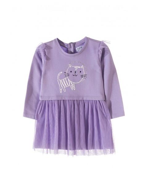 Sukienka niemowlęca dzianinowa