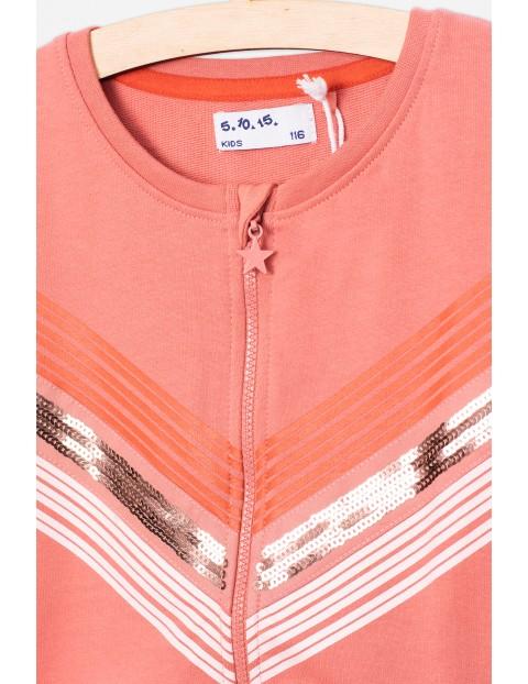 Dresowa bluza dla dziewczynki z cekinowymi wstawkami