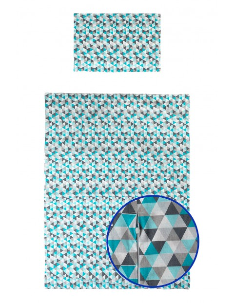 Pościel bawełniana w kolorowe trójkąty 135x100cm