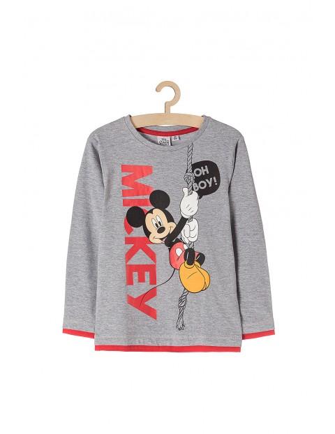 Bluzka chłopięca szara Mickey Mouse- Oh Boy