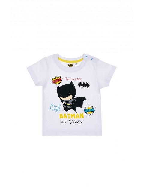 Biała koszulka niemowlęca Batman-100% bawełna