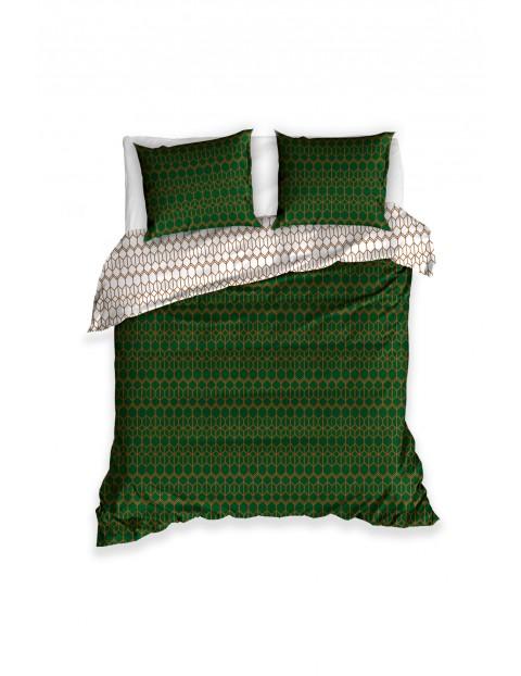 Komplet pościeli bawełnianej - butelkowa zielenień 160x200+2x70x80 cm