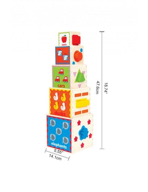 Piramida zabaw-sorter 18msc+