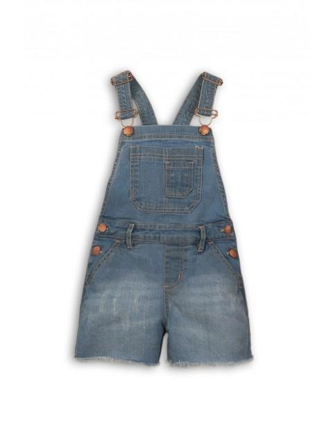 Ogrodniczki dziewczęce krótkie jeansowe