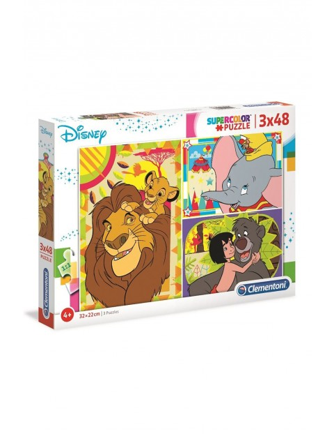 Puzzle Super Color Disney Classic Clementoni  -  3 x 48 elementów wiek 4+