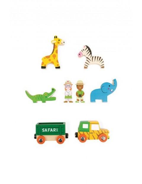 Dzikie zwierzęta zestaw drewniany 8 elementów kolekcja Story Janod