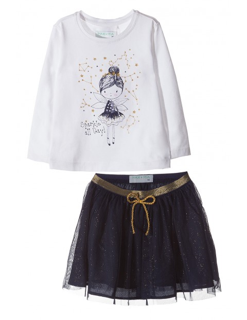 Komplet – tshirt + spódniczka 3P3506
