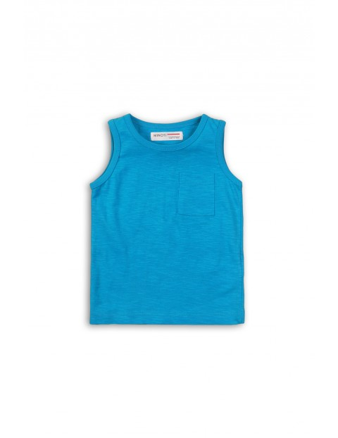 Niebieska koszulka na ramiączka rozmiar 92/98