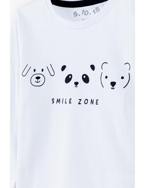 Bluzka niemowlęca z napisem - Smile Zone