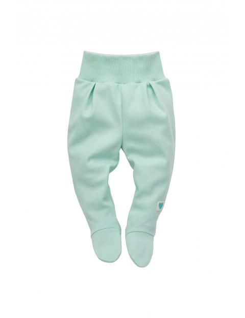 Półśpiochy niemowlęce niebieskie- bawełniane