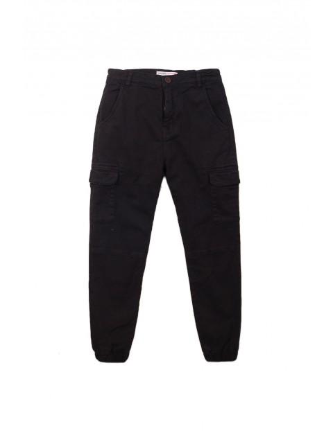 Spodnie chłopięce - brązowe z kieszeniami rozm 92/98