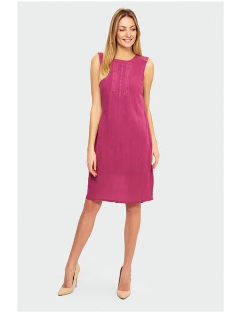 Różowa sukienka damska