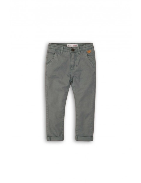 Spodnie chłopięce materiałowe szare