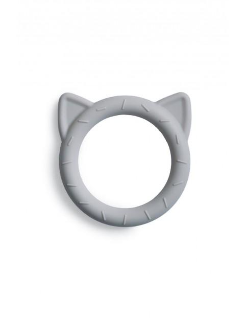 Mushie - Gryzak silikonowy bransoletka CAT Stone - szary