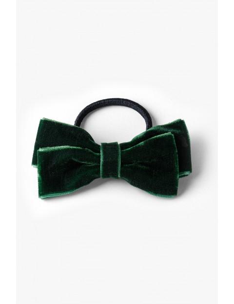 Gumka do włosów kokardka - zielona