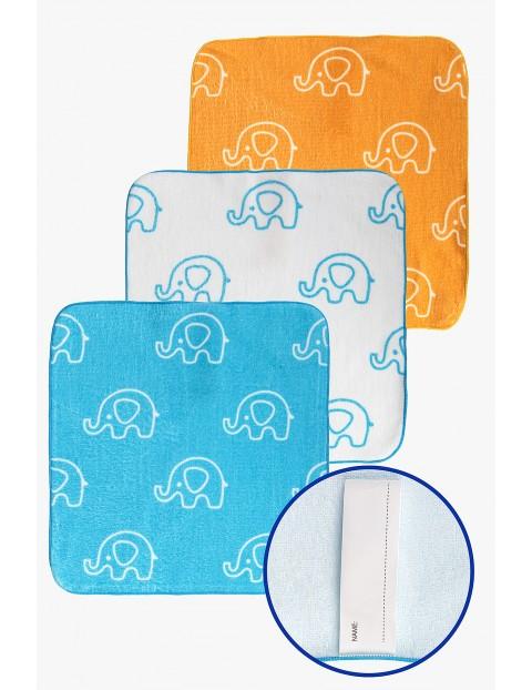 Ręczniki bawełniane w Słoniki 30x30cm 3-pack