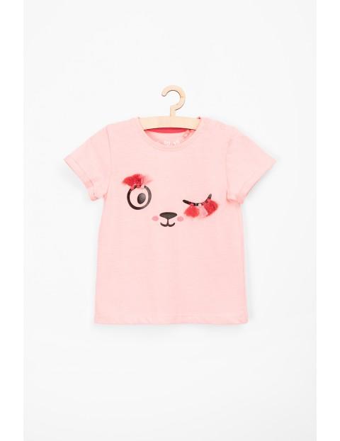 T-shirt dla niemowlaka- różowy