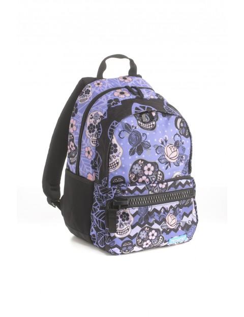 Plecak dziewczęcy szkolny  - w czaszki