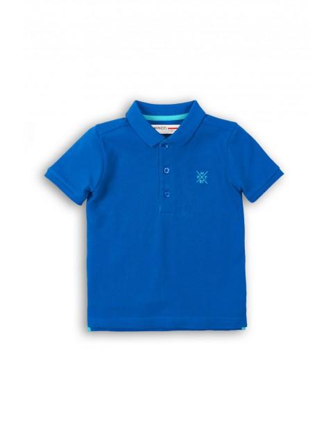 Bluzka niemowlęca z kołnierzykiem - niebieska