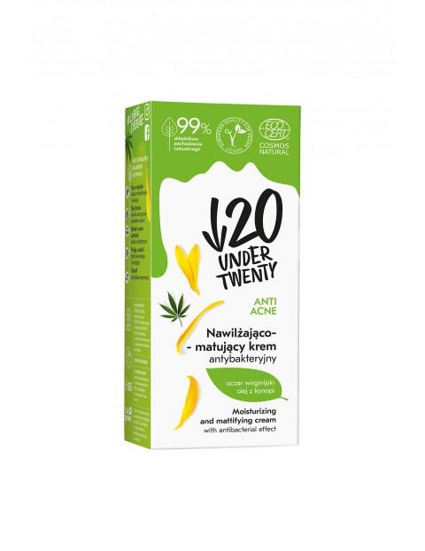 Under Twenty Anti Acne Nawilżająco-matujący krem antybakteryjny 50 ml
