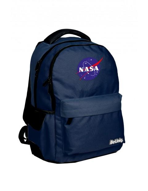 Granatowy plecak NASA