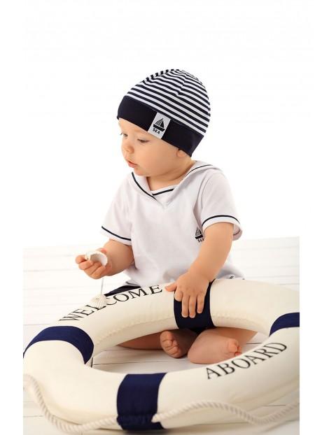 Czapka dzianinowa dla niemowlaka w paski
