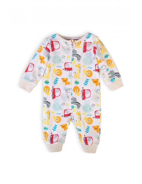 Pajac niemowlęcy bawełniany- Safari