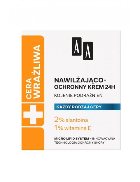 AA Cera Wrażliwa krem nawilżająco-ochronny do każdego rodzaju cery 24h - bezzapachowy 50 ml