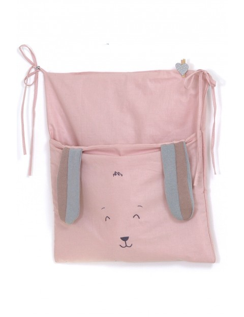 Przybornik - torba na łóżeczko Amy midi Fluffy- różowy