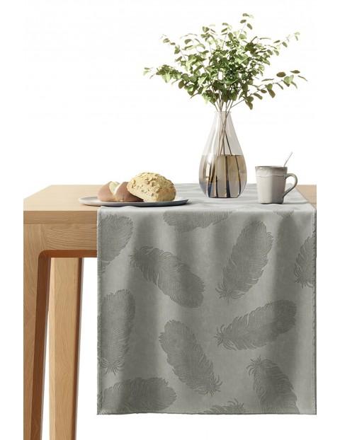 Bieżnik na stół Velvet szary 40x140 cm