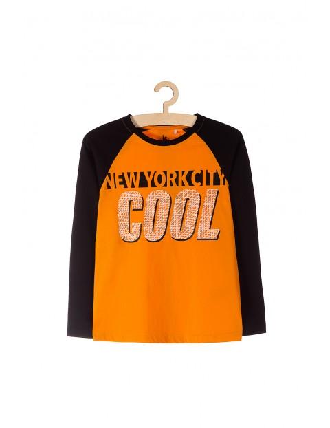 Bluzka dzianinowa dla chłopca pomarańczowa
