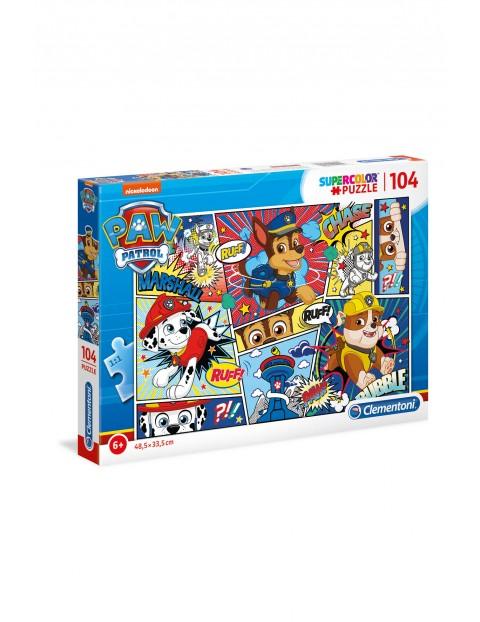 Puzzle Super Color Psi patrol  - 104 elementy wiek 6+