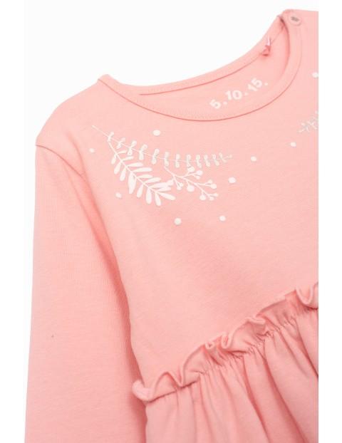Sukienka niemowlęca dzianinowa - różowa
