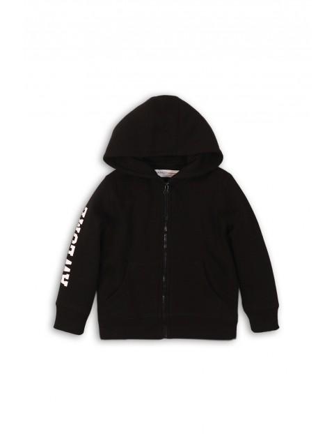 Bluza dresowa chłopięca - czarna z kapturem
