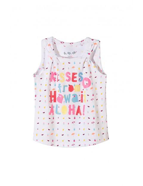 T-shirt dla dziewczynki z kolorowym napisem