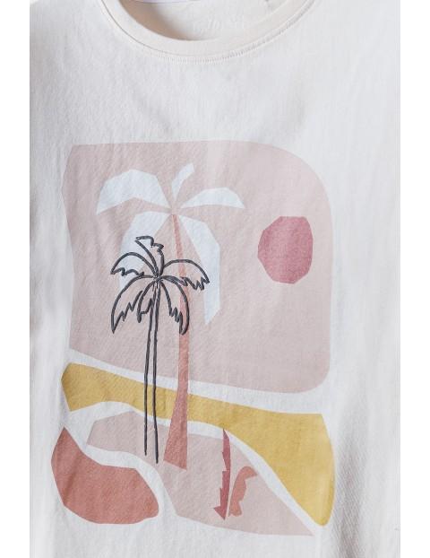 Bawełniana  pidżama dziewczęca w palmy